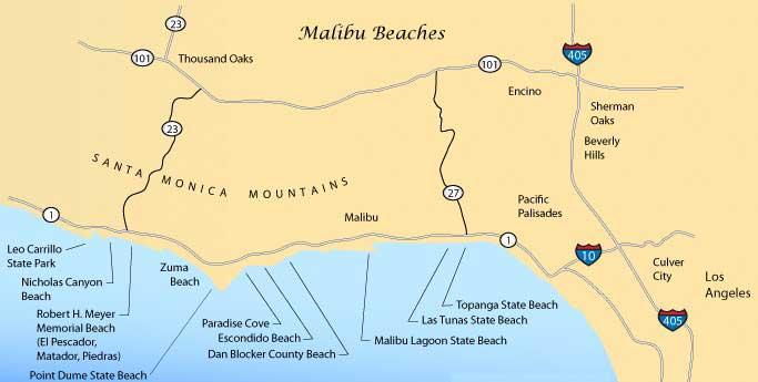 Пляжи Малибу в Лос-Анджелесе