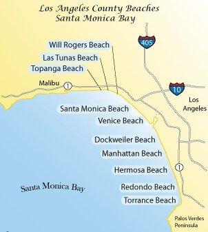 Пляжи Санта-Моники в Лос-Анджелесе