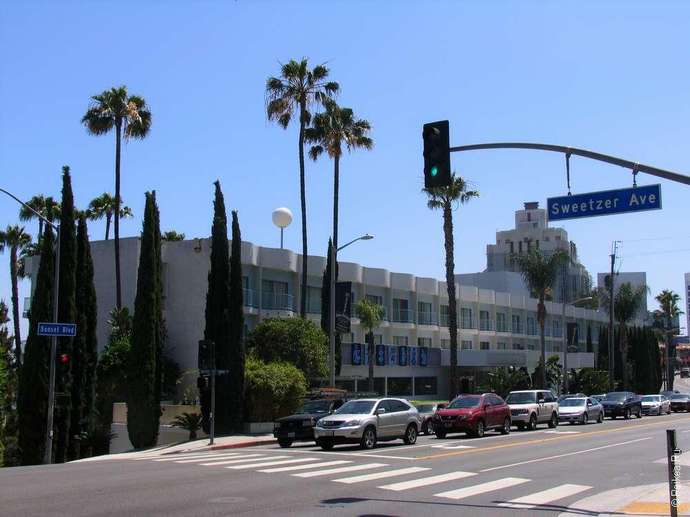 Одна из улиц Лос-Анджелеса - Бульвар Сансет