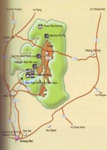 Карта национального парка Си Ланна