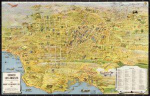 Большой Лос-Анджелес на карте