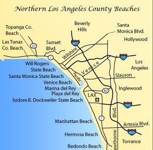 Пляжи Северной части города Лос-Анджелес