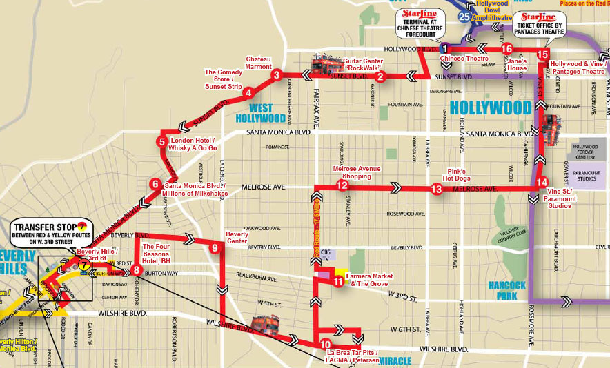 Туристический маршрут по Лос-Анджелесу, Калифорния, США