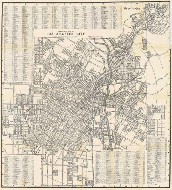 Подробная карта улиц Лос-Анджелеса 1917 года
