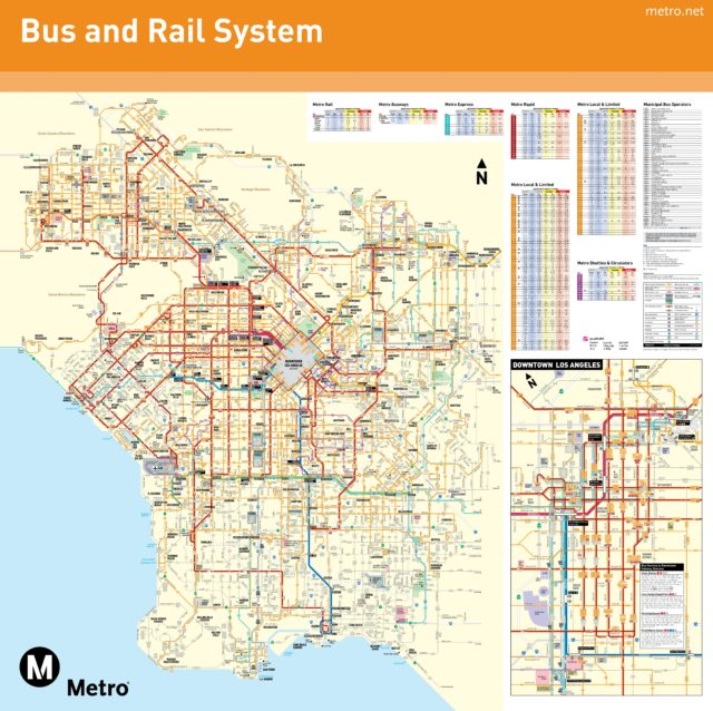 Карта транспорта Лос-Анджелеса