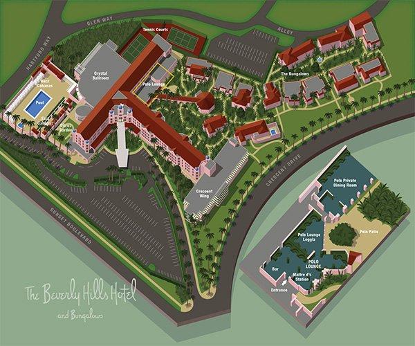 План отеля Беверли-Хиллз