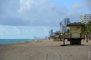 Пляж в Майами