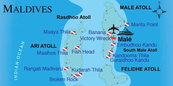 Лучшие места для дайвинга на Мальдивах