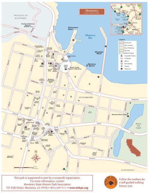 Карта исторического парка Монтерей