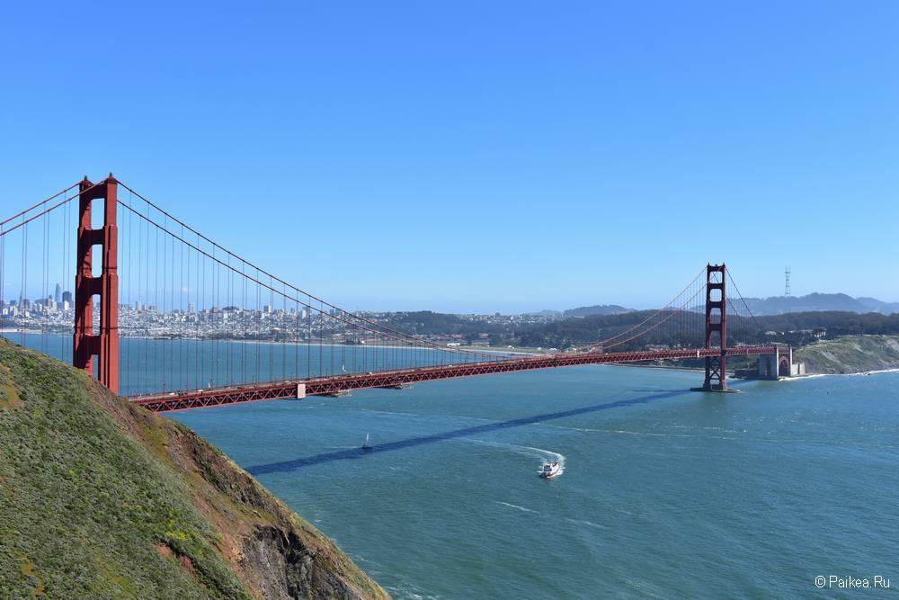 Мост Золотые Ворота в Сан-Франциско Golden Gate Observation Deck