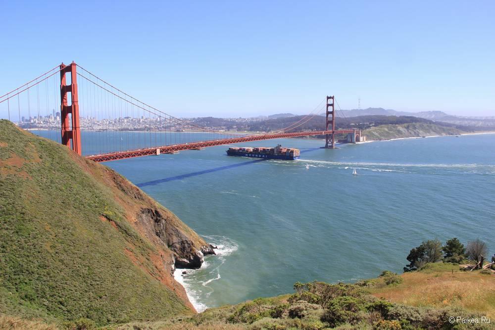 Мост Золотые Ворота в Сан-Франциско фото