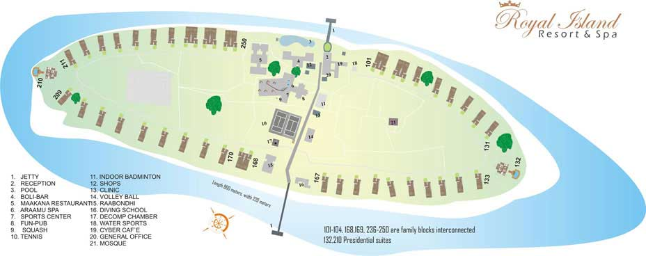 Royal Island Resort & Spa Map