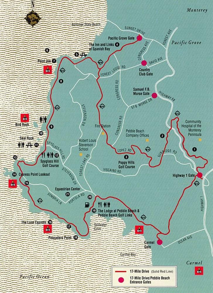 схема 17-мильной дороги