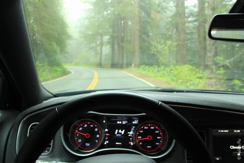 на авто по калифорнии