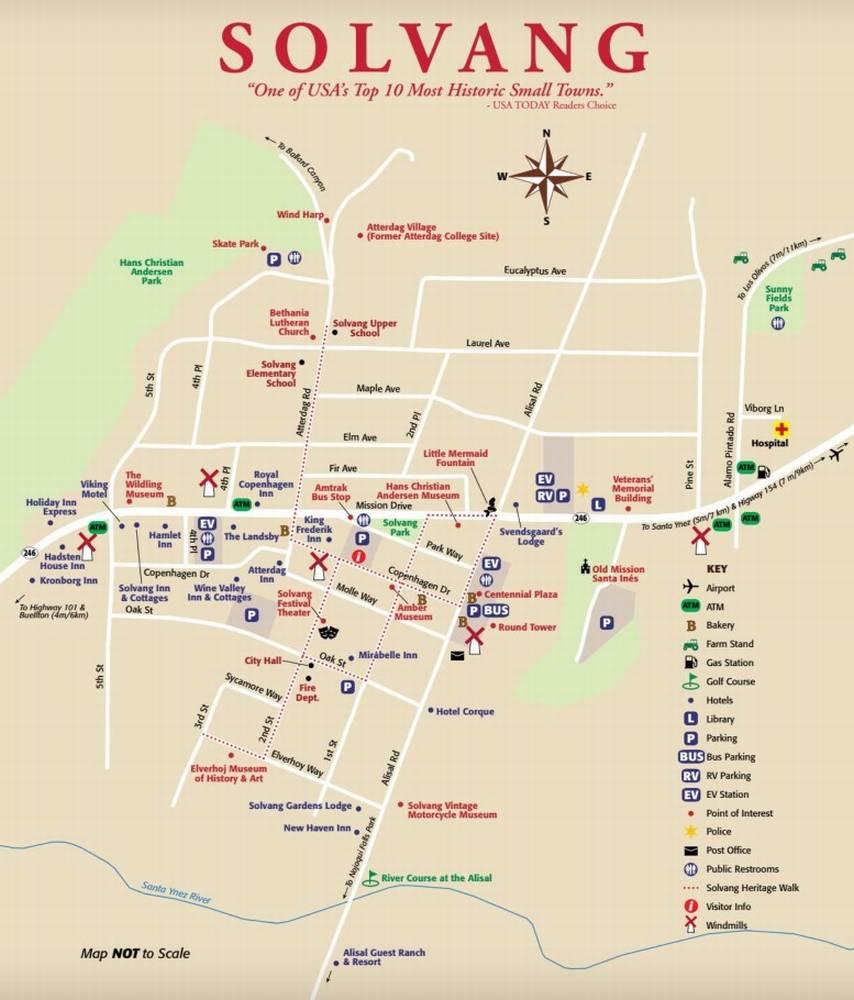 Солванг карта