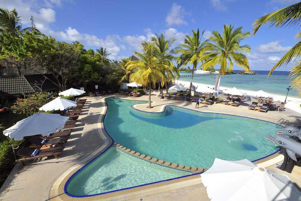 Мальдивы отели с домашним рифом Парадайз Айленд
