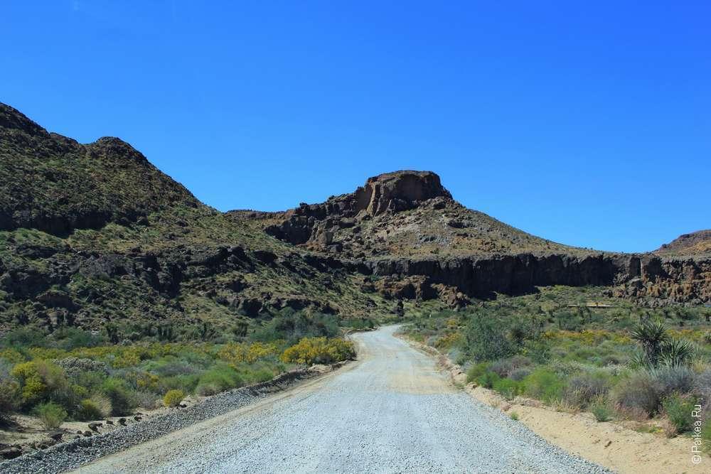 Дорога в пустыне Мохаве США