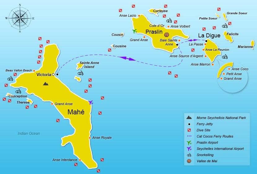 Сейшельские острова карта