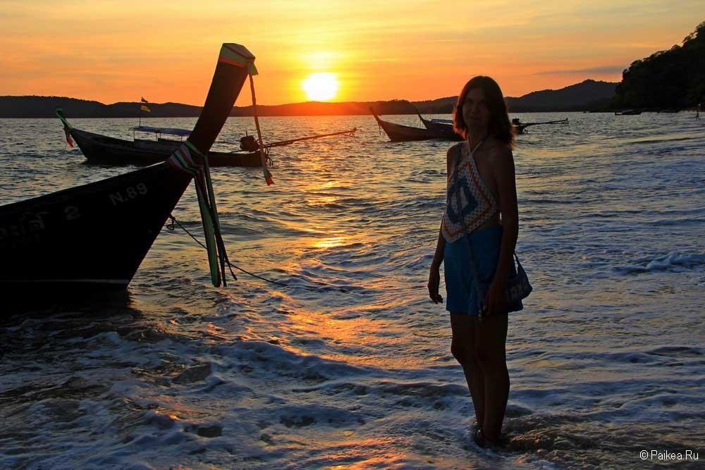 Пляжи Краби закат