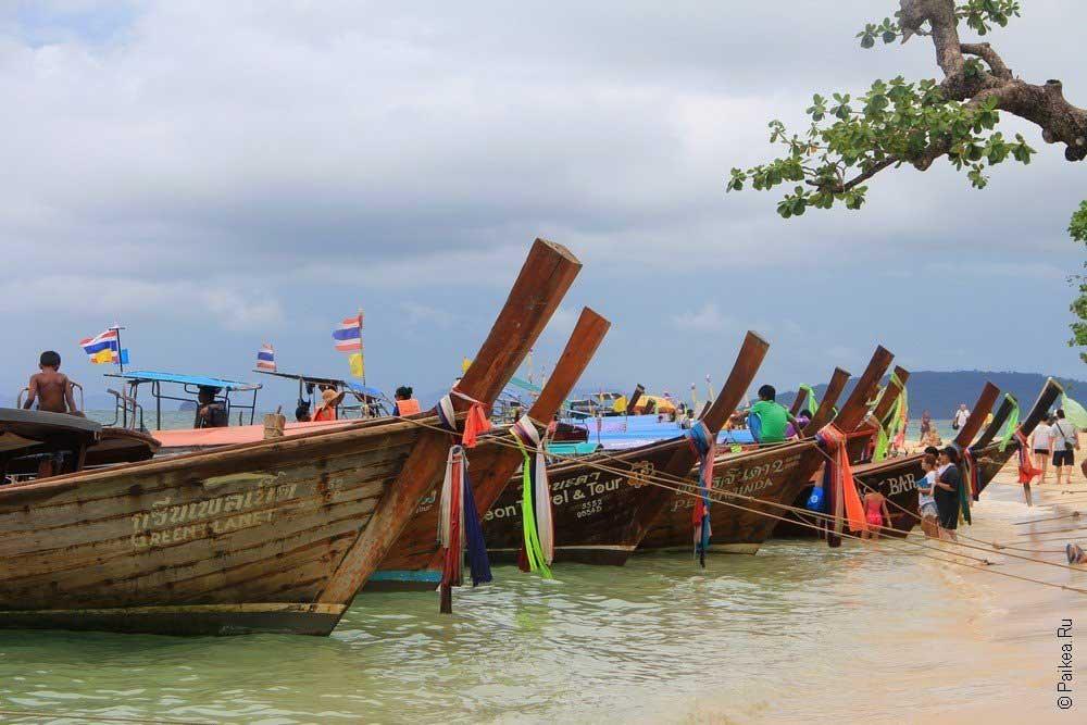 Пляж Прананг с лодками