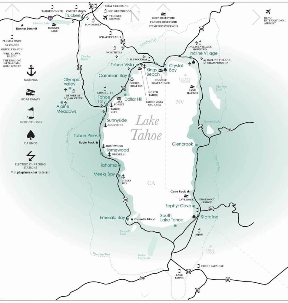 что посмотреть на озере тахо
