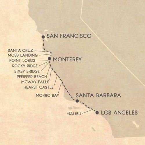 лос-анджелес сан-франциско карта