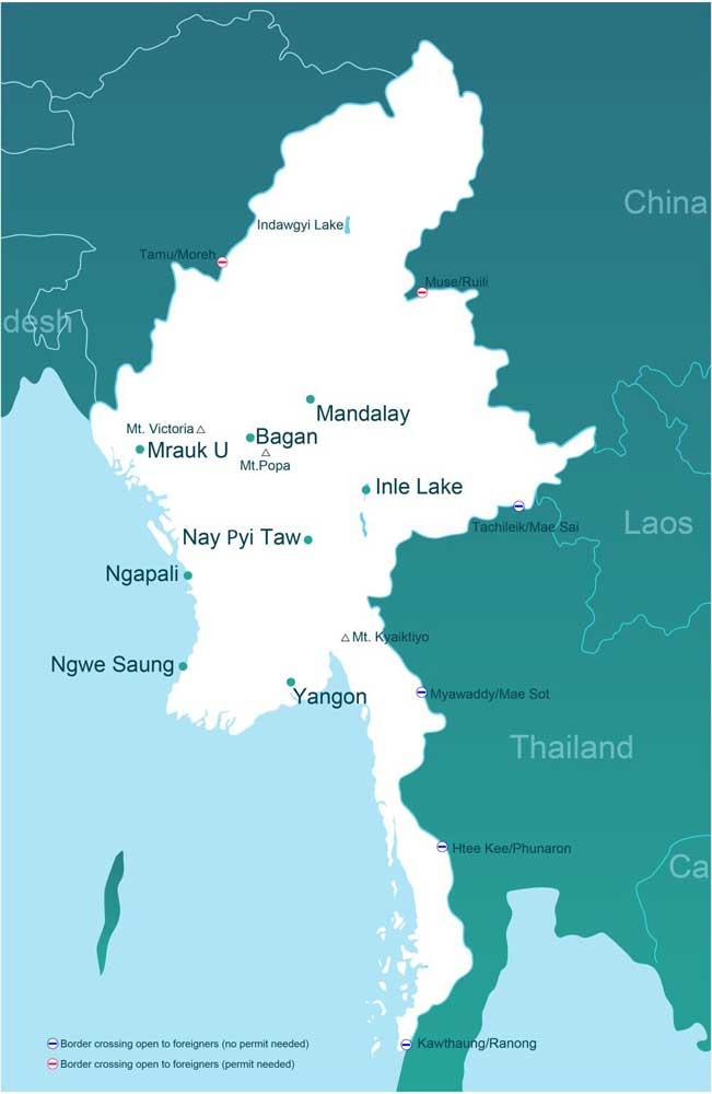 как добраться в Мьянму
