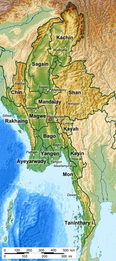 мьянма география