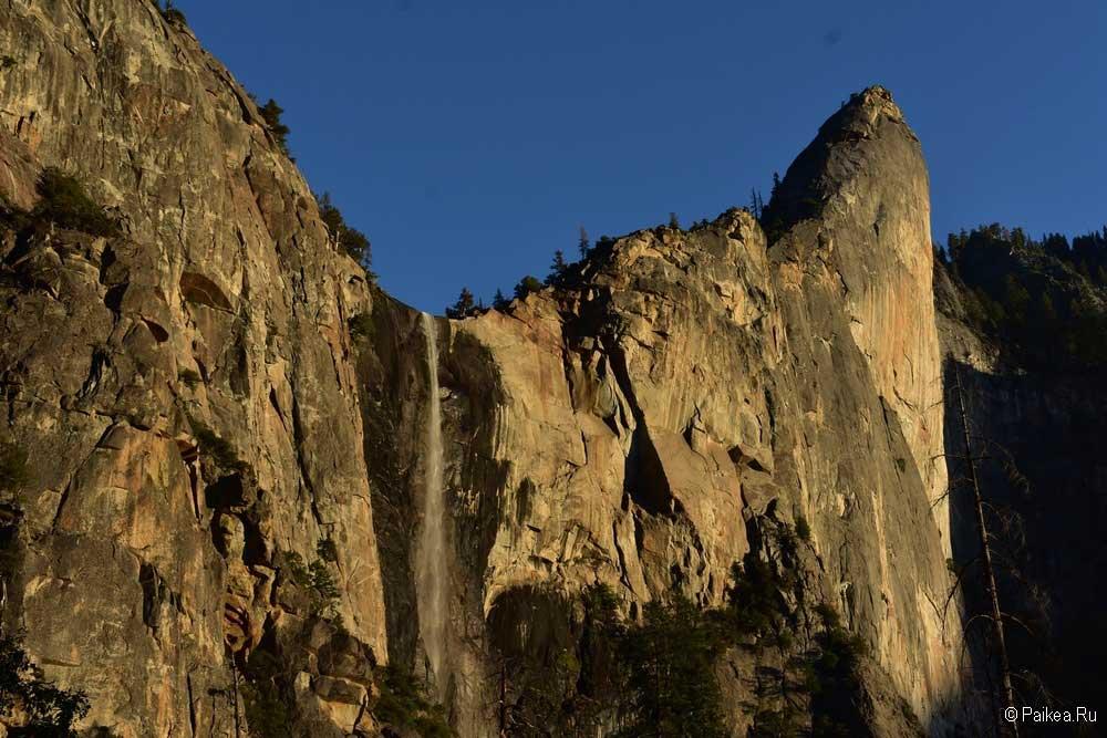водопад в парке йосемити