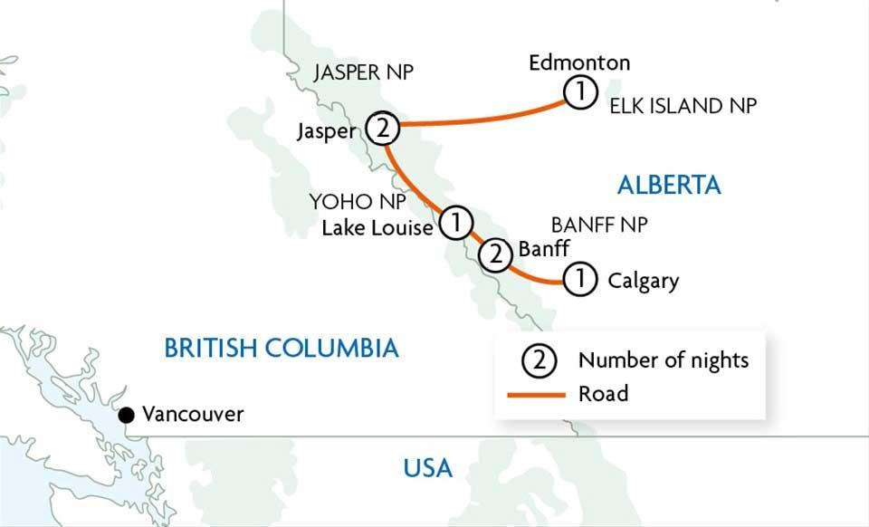 Красивые дороги в Канаде