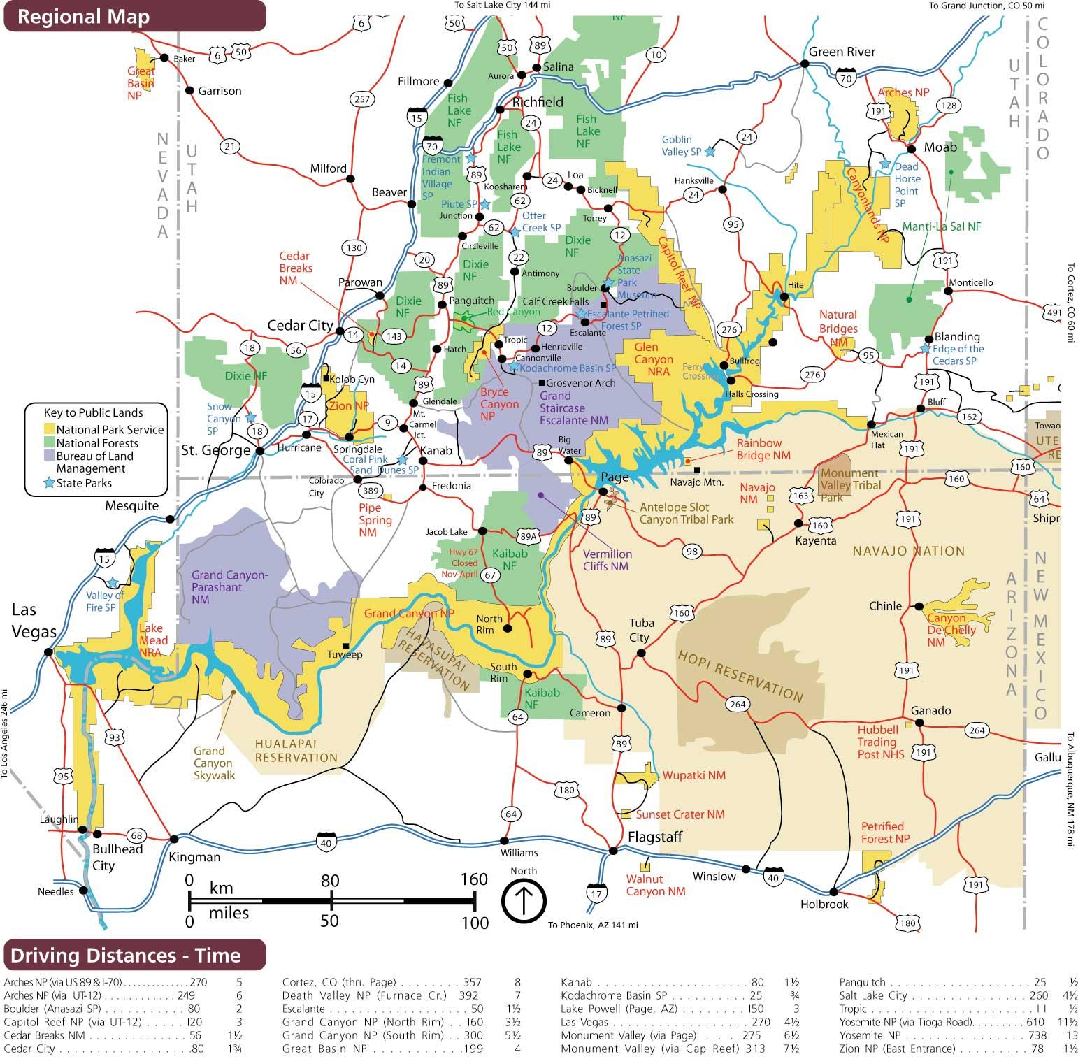 брайс каньон на карте