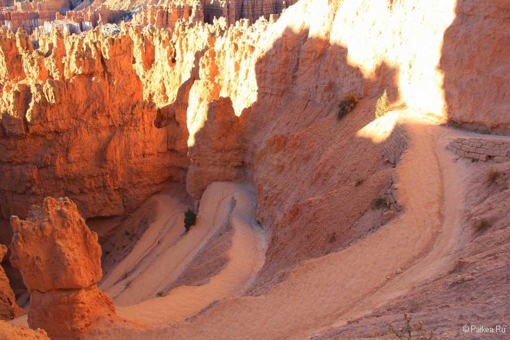 Спуск в каньон Брайс
