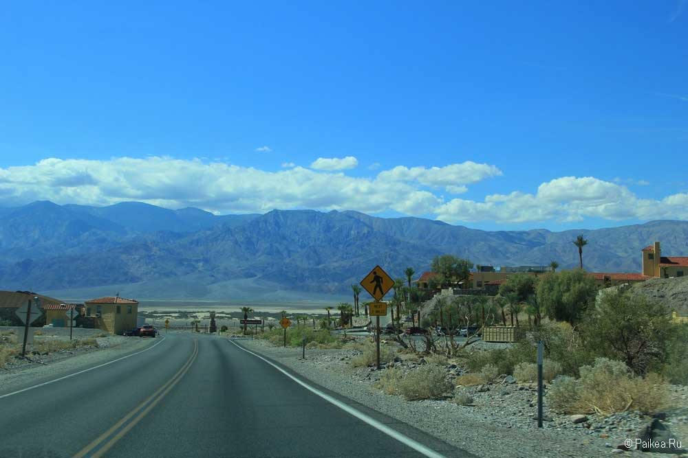 Въезд в Долину Смерти США