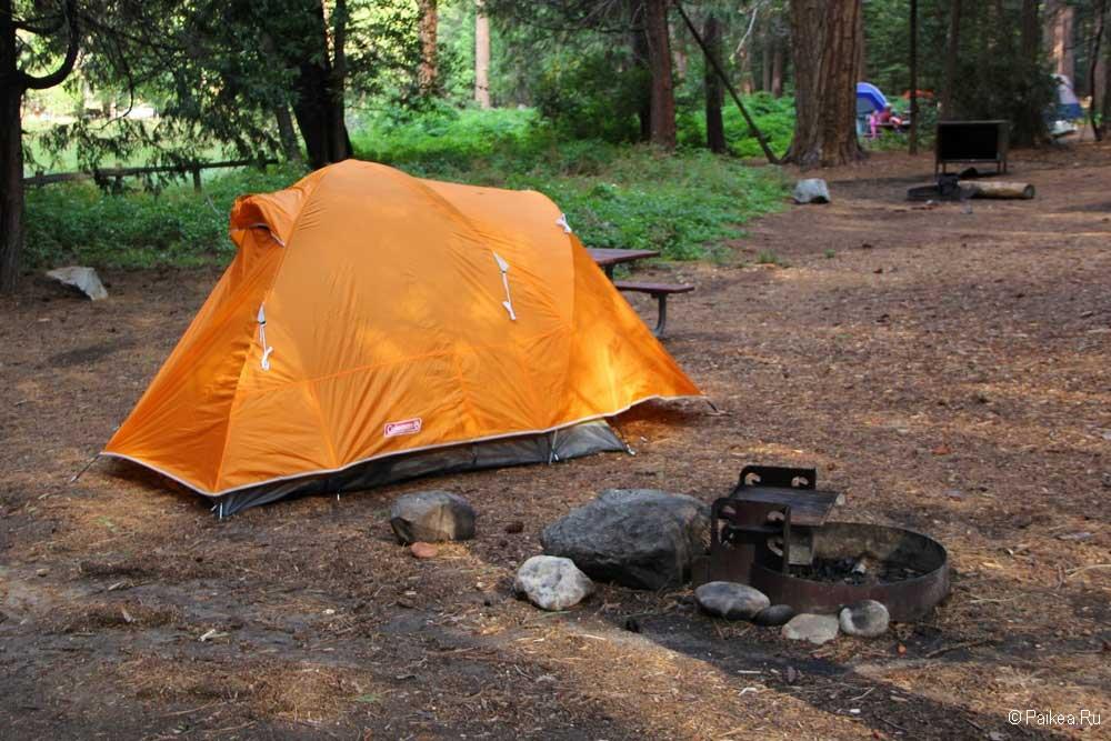 наша палатка в кингс каньоне