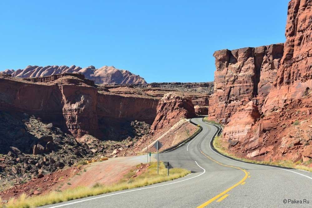 живописная дорога в США