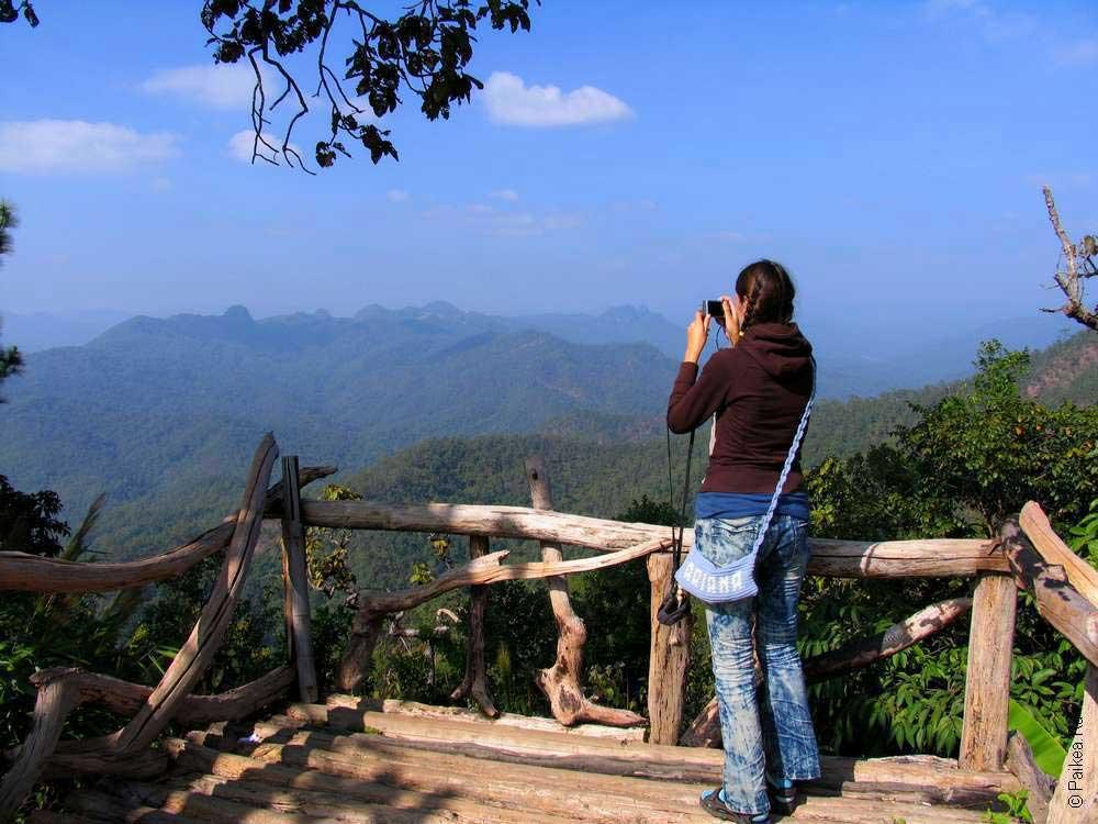 Горы на севере Таиланда - вид с красивой дороги 1095