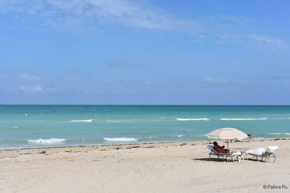 Песчаный пляж Майами