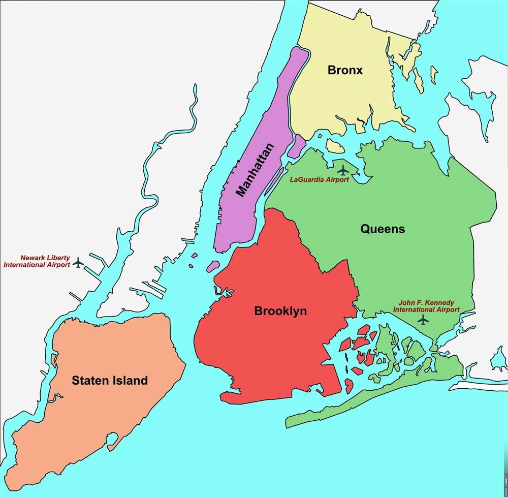 Отели Нью-Йорка по районам
