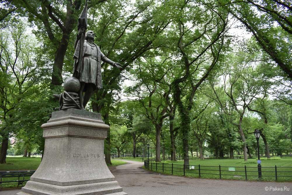 Достопримечательности Нью-Йорка памятник Колумбу