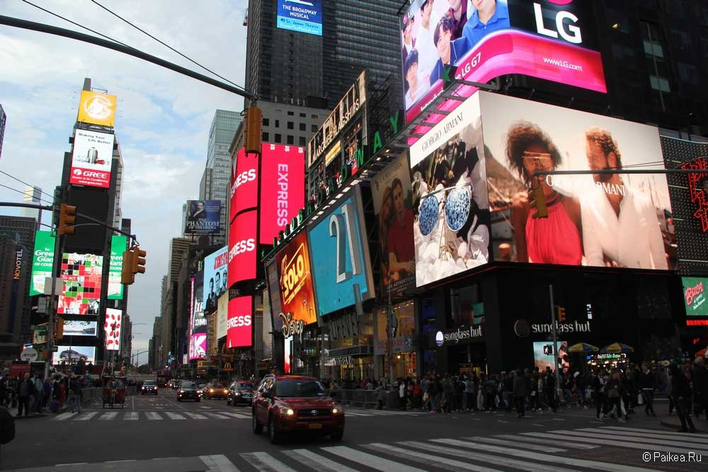 Достопримечательности Нью-Йорка Таймс-Сквер