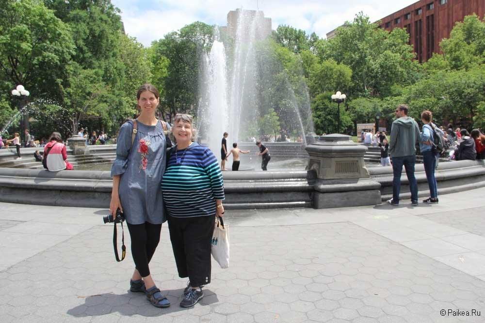 Достопримечательности Нью-Йорка площадь с фонтаном