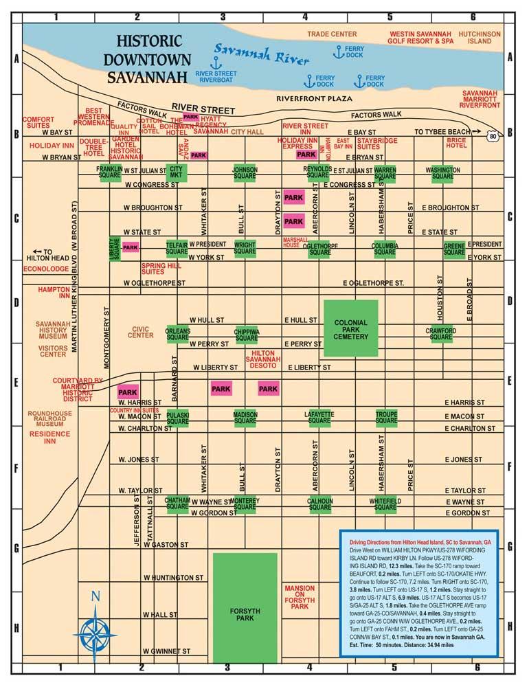 саванна карта города