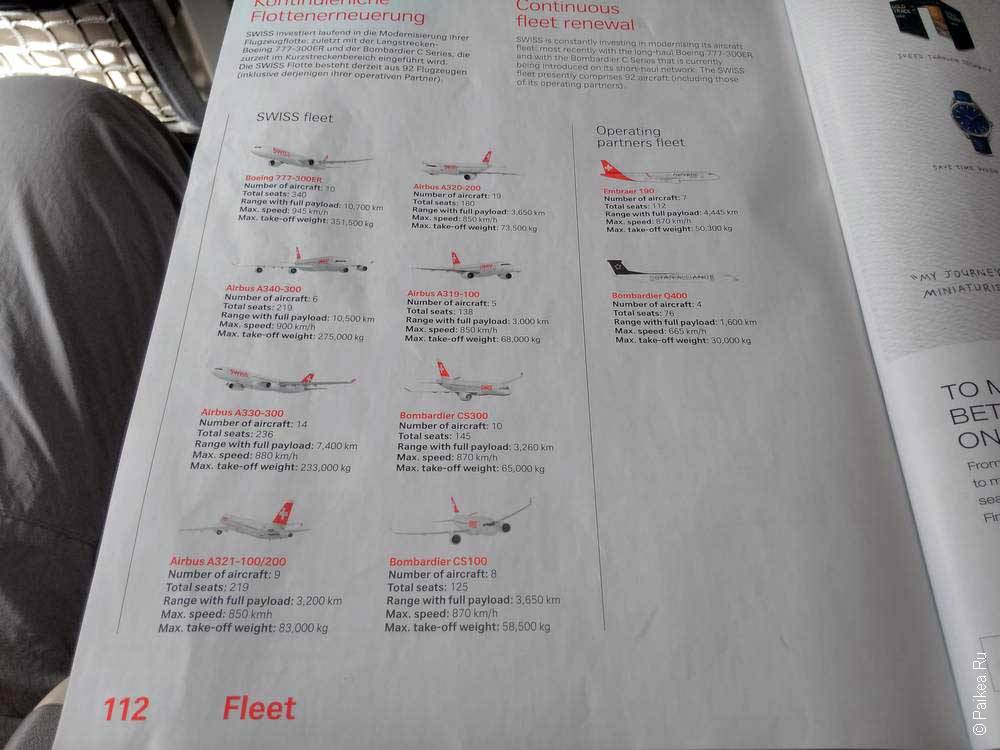 swiss самолеты