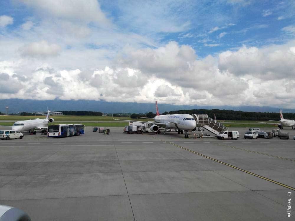 В аэропорту Женевы