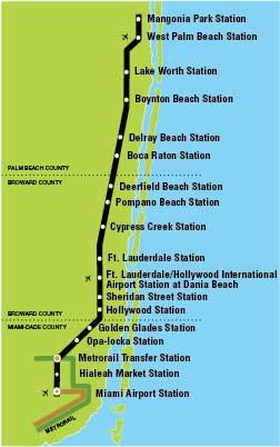 майами поезд схема