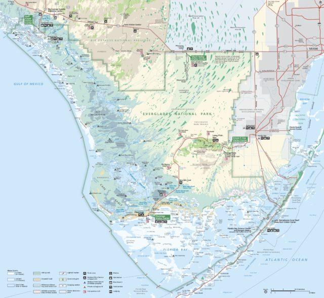 эверглейдс карта