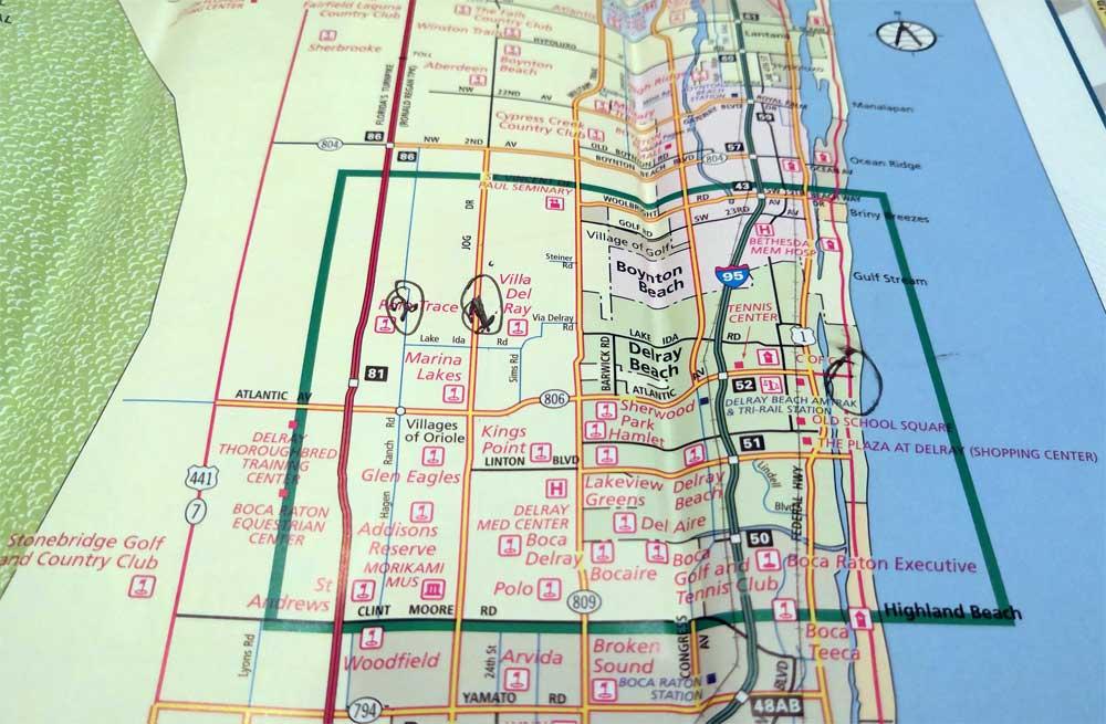 делрей бич карта