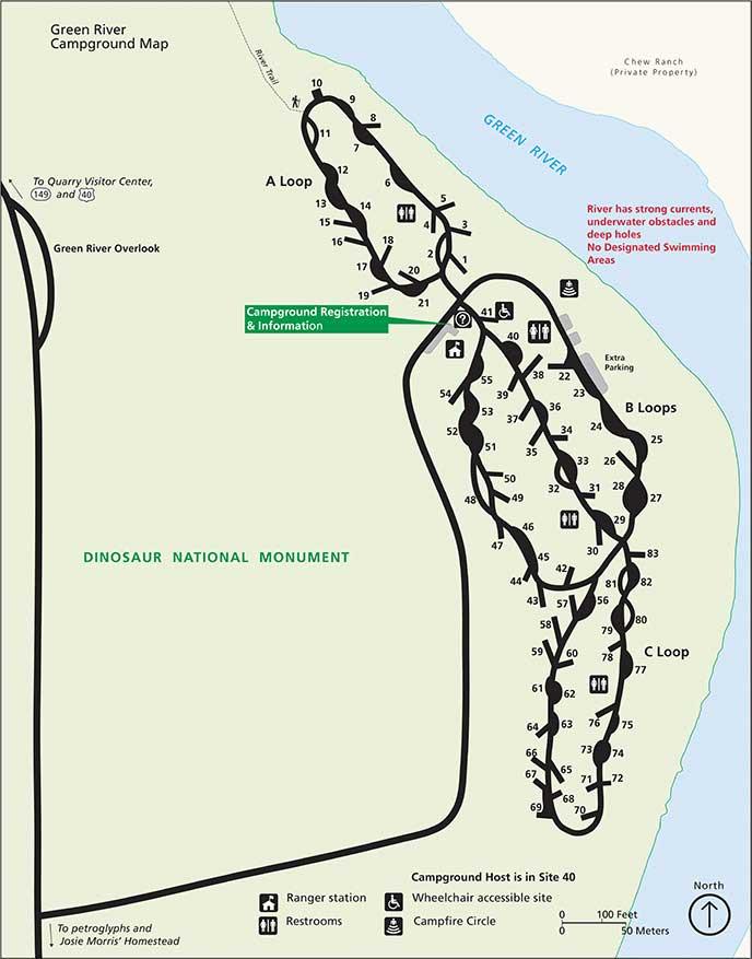 динозавр кемпинг грин ривер