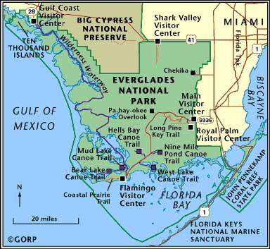 эверглейдс на карте
