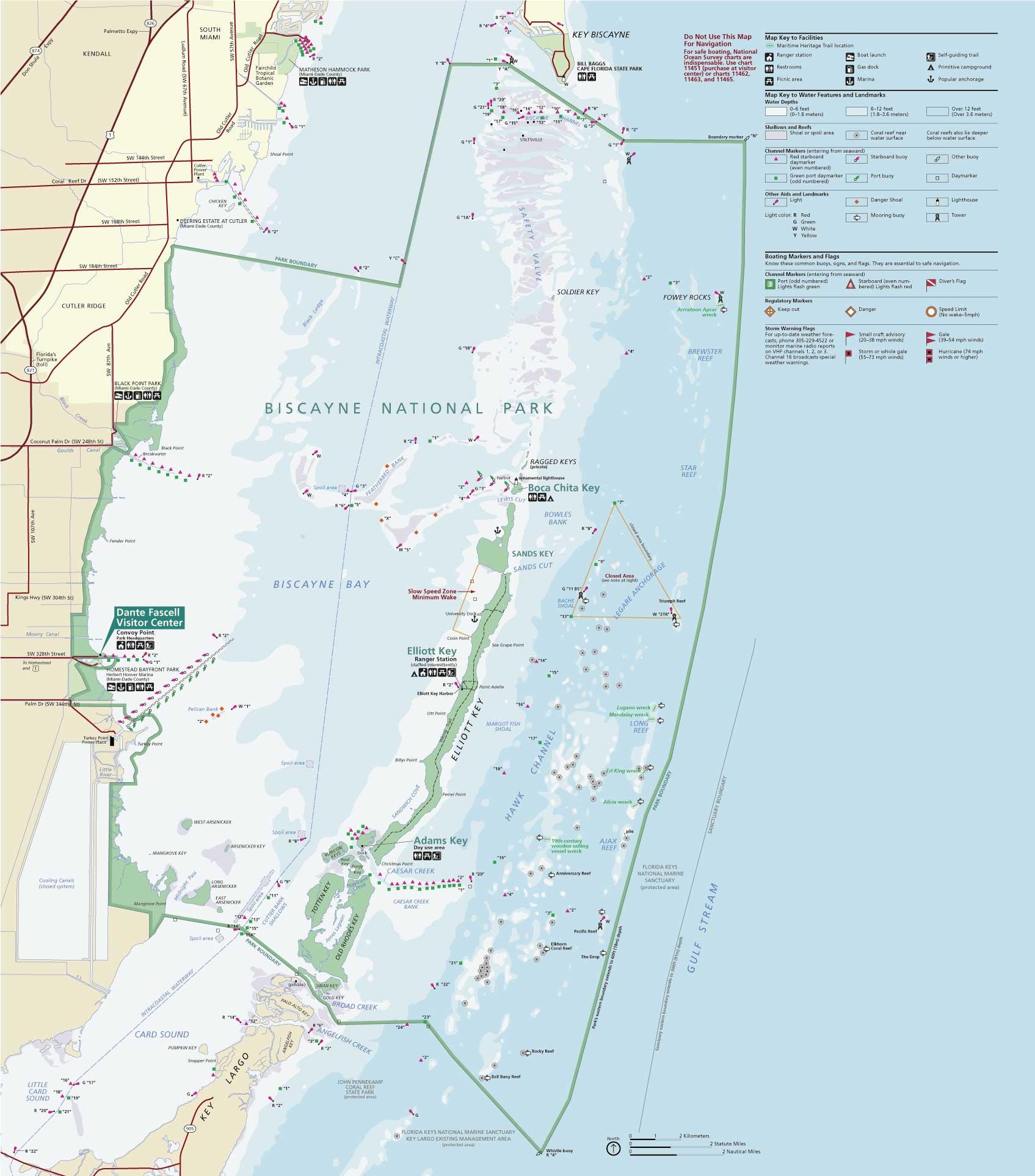 Национальный парк Бискейн карта